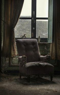 A vast abandoned manor house, interior -andre govia