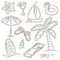 7255850-Summer-beach-doodles-isolated-on-white-background-Stock-Vector-beach-cartoon-umbrella.jpg 1,300×1,300 pixels