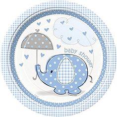 32piezas Baby Shower Deko Juego de elefante azul 8personas