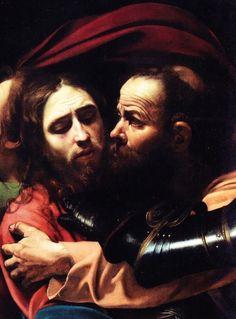 The Taking of Christ by the Italian Baroque master Michelangelo Merisi da Caravaggio (1602)