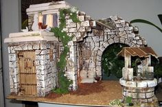 Diy Flowers, Paper Flowers, Flower Diy, Christmas Nativity, Diy And Crafts, Christmas Decorations, Christmas Ideas, Outdoor Structures, Dollhouses