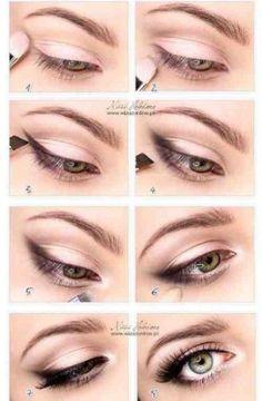 Фото урок пошагового рисования стрелок на глазах в сочетании с тенями