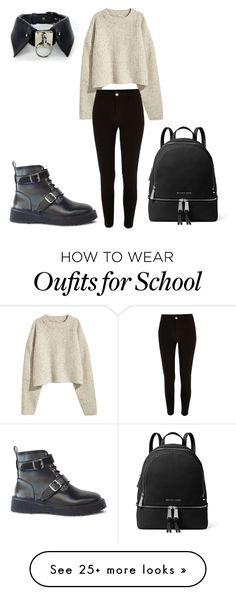 """""""Thursday at school"""" by dina-001 on Polyvore featuring River Island and MICHAEL Michael Kors"""