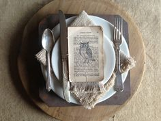 fall place setting with stamped ephemera | isabella sparrow