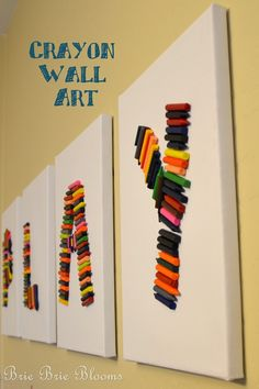 Brie Brie Blooms: Crayon Wall Art - video tutorial on SheKnows TV ...