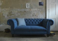 Living room colour schemes moody blues | Homegirl London - Living Room Colours Schemes, Grande Dame Sofa, Sofa Workshop