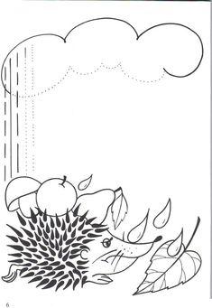 autumn trace line worksheet