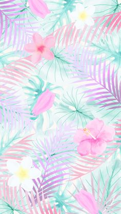 Floral summer pattern wallpaper for iphone and android. image uploaded by find images and videos about pink, wallpaper and purple on we heart it - the app Cute Wallpaper Backgrounds, Trendy Wallpaper, Pretty Wallpapers, Wallpaper Iphone Cute, Aesthetic Iphone Wallpaper, Aesthetic Wallpapers, Floral Wallpapers, Iphone Backgrounds, Summer Backgrounds Tumblr
