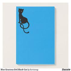Blue Gracious Evil Black #Cat Post-it Notes