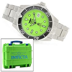 623-979 - Invicta 46mm Grand Diver Automatic Lume Dial Bracelet Watch w/ Eight-Slot Dive Case