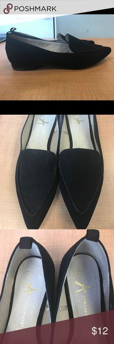 Atmosphere Size 7 Faux Suede Black Flats Classic pointy toe flats. Worn only a handful of times. Can be worn with just about anything. Super versatile. Atmosphere Shoes Flats & Loafers