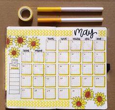 Bujo monthly spread