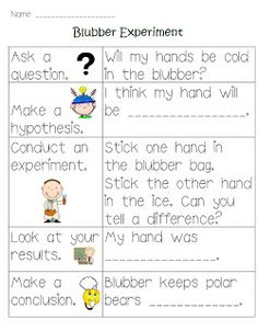 Kreative in Kinder: Penguin Party! Blubber experiment freebie and cute penguin hat . Kid Science, 1st Grade Science, Kindergarten Science, Science Classroom, Science Fair, Science Lessons, Teaching Science, Science Activities, Science Ideas