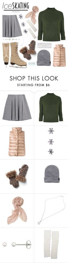 """""""So Cute: Ice Skating Style"""" by hippo14 ❤ liked on Polyvore featuring Fall Winter Spring Summer, Topshop, Moncler, Rachel, East of India, Vincent Pradier, Reebok, Brixton, Stella & Dot and Love Quotes Scarves"""