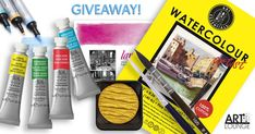 Art Lounge Watercolor Prize Package International Giveaway! Watercolor Tips, Watercolor Paintings, Traffic Congestion, Ninja Cats, Crochet Birds, Advertising And Promotion, Aesthetic Words, Art Walk, Gift Card Giveaway