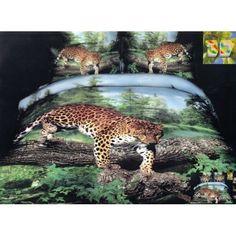 Luxusné posteľné obliečky s leopardom