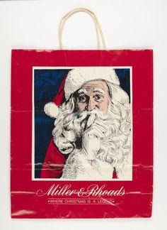 Miller & Rhoads shopping bag (Virginia Historical Society, 2008.142.1)