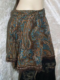 Skirt Hip wrap Belly Dance Tribal Fusion Paisley