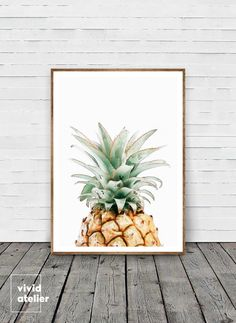 Pineapple Print, Pineapple Wall Art, Watercolor Pineapple, Best Selling Items, Printable Pineapple, Tropical Print, Pineapple, Pineapple Art by VividAtelier on Etsy https://www.etsy.com/listing/398683111/pineapple-print-pineapple-wall-art