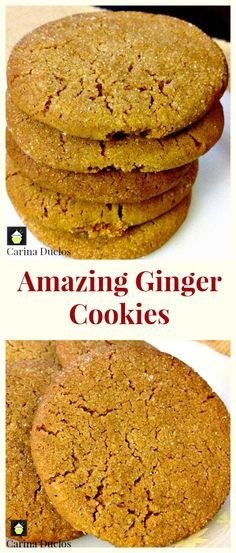 Easy recipe and perfect with a cup of tea or glass of cold milk. Easy recipe and perfect with a cup of tea or glass of cold milk. Cookie Desserts, Just Desserts, Cookie Recipes, Delicious Desserts, Dessert Recipes, Yummy Food, Dinner Recipes, Ginger Cookies, Yummy Cookies