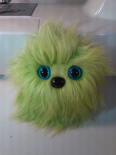 Furry Monster Plush - 4 Lime Green Coodle. $10.00, via Etsy.