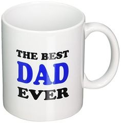 3dRose The Best Dad Ever Blue Ceramic Mug 11Ounce -- You can get additional details at the image link.