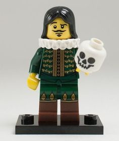 Hamlet and Yorick Lego! This is amazing! I would love to have a few famous characters for my classroom!