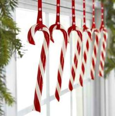 hanging candy canes! Cute