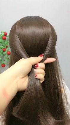 Hairstyles For Medium Length Hair Tutorial, Hair Tutorials For Medium Hair, Bun Hairstyles For Long Hair, Braids For Long Hair, Braided Hairstyles, Front Hair Styles, Short Hair Styles Easy, Medium Hair Styles, Hair Style Vedio