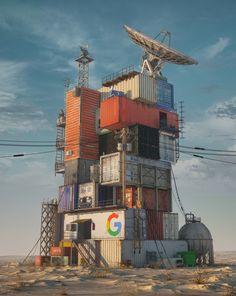 ArtStation - GOOGLE DATA CENTER 2079, beeple .