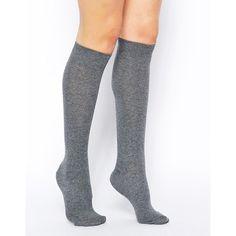 ASOS Knee High Socks ($5.57) ❤ liked on Polyvore featuring intimates, hosiery, socks, over-the-knee socks, asos socks, cotton knee socks, knee hi socks and knee-high socks