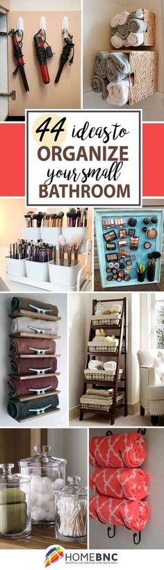 Re-organize your towels and toiletries during your next round of spring cleaning. Re-organize your towels and toiletries during your next round of spring cleaning. Check out some of the best small bathroom storage ideas! Diy Storage, Organization Hacks, Storage Ideas, Makeup Storage, Organizing Ideas, Storage Organizers, Storage Shelves, Recycling Storage, Creative Storage