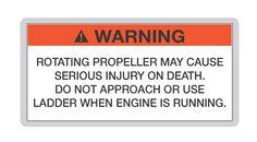 Propeller warning. Get your boat license at BoatTests101.com!