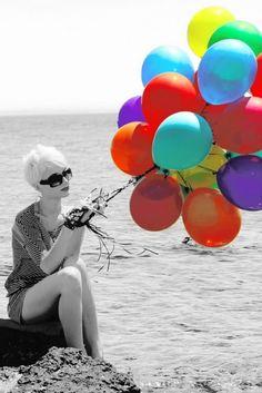 Globos de colores. #ballons #ballonsphotography #beautifulgirl