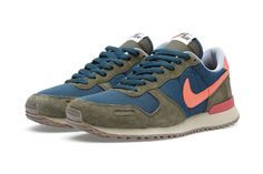 Buy the Nike Air Vortex Vintage in Mid Turquoise & Total Crimson from leading mens fashion retailer END. - only Fast shipping on all latest Nike products Ankle Sneakers, Best Sneakers, Slip On Sneakers, Leather Sneakers, Sneakers Nike, Sneakers Fashion, Nike Air, Zapatillas Casual, Women Nike