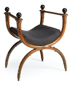 A Directoire carved mahogany stool, attributed to Georges Jacob circa 1795, after a design by Percier and Fontaine Estimate 20,000 — 30,000 USD LOT SOLD. 32,500 USD
