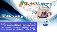 #Email #marketing #campaigns are essential elements of any marketing #strategy. They communicate and build relationships with prospects, gather important data, and help boost #marketing ROI. As important as these campaigns are for #marketers, many miss the mark and continue to fall short on the campaign's return. #Stickymarketers  Stickymarketers.com