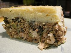 ThePaleoMom: Recipe: Tourtière-Inspired Shepherd's Pie---I made this last night with deer hamburger.  It was really good and the family loved.  I made the following changes: added carrots, did NOT add mushrooms, used tapioca starch instead of arrowroot, pinch of cloves and allspice, and about 1 tsp thyme.  I recommend using two heads of cauliflower as my top layer was thin.  Had a great flavor.