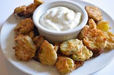 We can think of a dozen reasons to eat fried pickles outside of a state fair. All of them also involve yoga pants and Netflix.  Get the recipe from House of Yumm »   - Delish.com