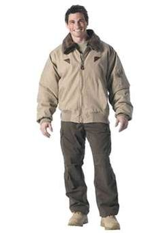 Vintage Cotton Khaki B-15a Bomber Jacket ! Buy Now at gorillasurplus.com