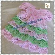 Crochet Baby Layers Christening Dress. - via @Craftsy