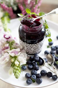 """~ Good morning! """"Cheers to a beautiful day!"""" ~  Blueberry Jam"""