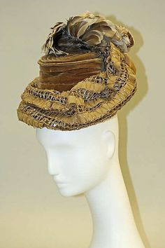 ~Hat 1900, American, Made of wool, silk, and feathers~