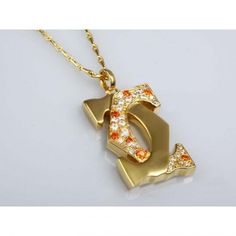 Cartier Double C Motif Charm Necklace in Gold Plated With Half D