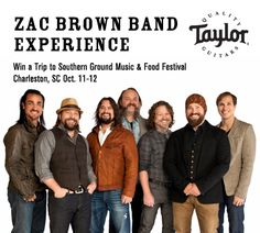 Win a Trip and VIP Experience with Zac Brown Band at Southern Ground Music & Food Festival Oct. 11-12 in Charleston, S.C.