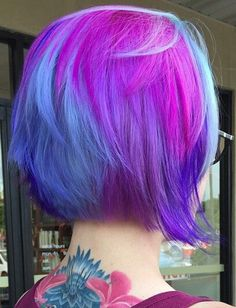 purple blue dyed hair color inspiration @lauraglimmer