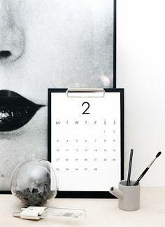 Weekday Carnival 2014 Printable Calendar