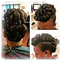 Rope Bun Shared By HairMaster Bre - http://www.blackhairinformation.com/community/hairstyle-gallery/updos/rope-bun-shared-hairmaster-bre/ #ropebun #protectivestyle #updo