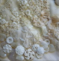 Lace and beads and buttons and bows..