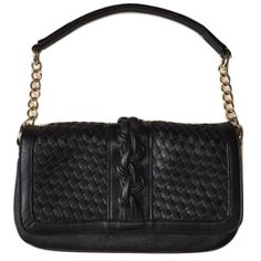 """Black Quilted Gold Chain Shoulder Purse NWOT Measures around 11x10"""" Black quilted braided woven pattern4 pockets and  a phone pocket Brand unknown Gold color chain Flexible shoulder strap Magnetic flap closure New without tags! Bags Shoulder Bags"""